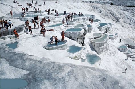 pamukkale turkey travertine hot springs at pamukkale turkey