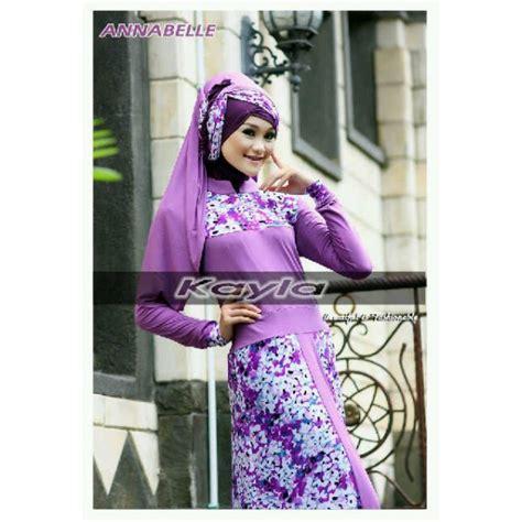 Only Gamis Dress Motif Bulu Angsa annabelle ungu baju muslim gamis modern