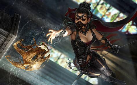 wallpaper 1080p hd video game beautiful anime girl warrior