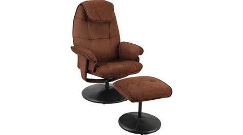 fauteuil prix fauteuil relax en microfibre chocolat avec pouf fauteuil relaxation prix discount