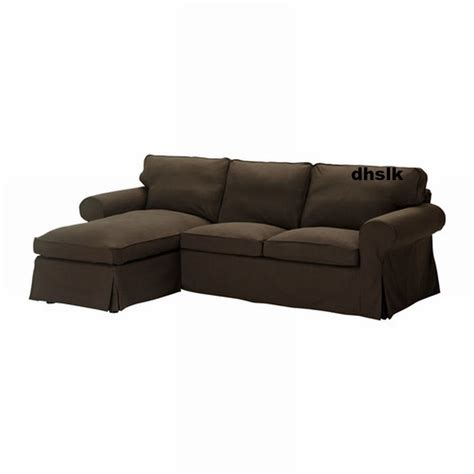 Ikea Ektorp Loveseat With Chaise Cover Slipcover Svanby