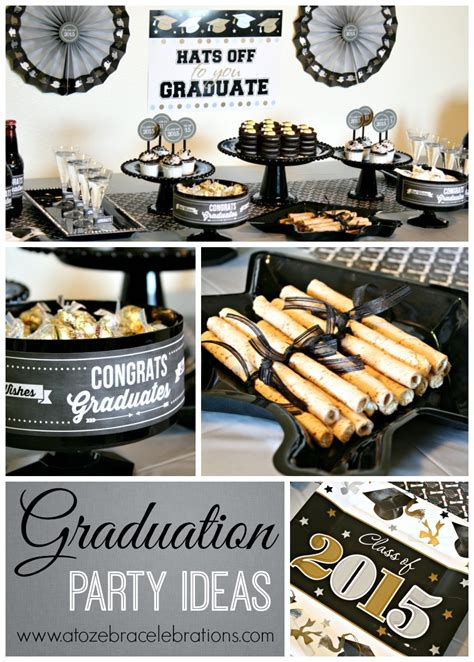 party themes of 2015 graduation party ideas a to zebra celebrations
