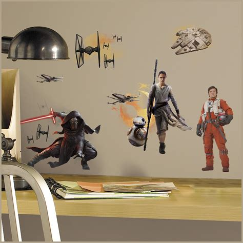Character Wall Stickers star wars vii characters peel and stick wall decals
