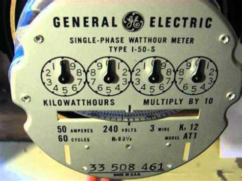 watthour meters  analog dial ge model    heavy duty