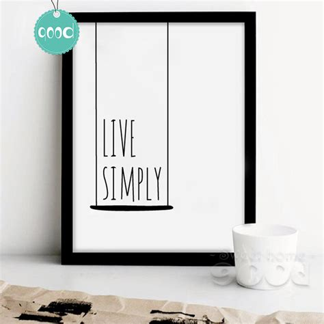simple home interior decorating with remarkable wall art on beige themed near library behind aliexpress com buy simple life quote canvas art print