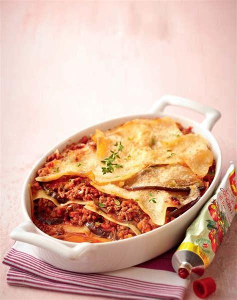 recette de cuisine avec aubergine recette lasagnes d aubergines 224 la bolognaise