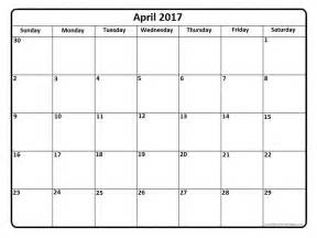 blank april 2017 calendar weekly calendar template