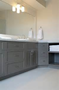 Gray Cabinets In Bathroom » New Home Design