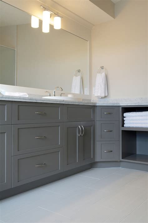 bathroom cabinets painted gray design ideas