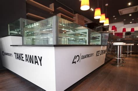 Take Away Shop Interior Design by Interior Design Quattrozero Restaurant Edinburgh