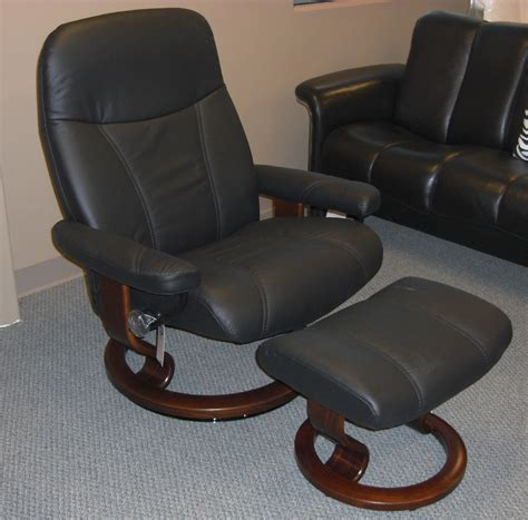 stressless leather recliners stressless batick black leather by ekornes stressless