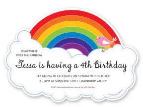 rainbow invitations theruntime