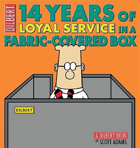 14 in years dilbert book 14 years of loyal service in a fabric covered box soft cover 1