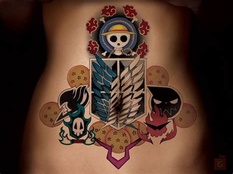 cool anime tattoos anime by gs gameplay by proto jekt on deviantart