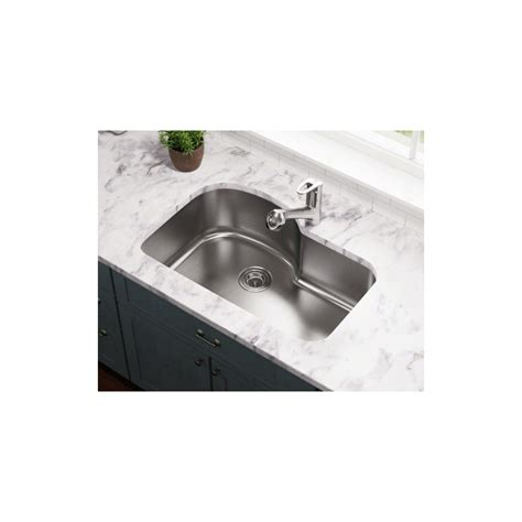 stainless steel single bowl undermount kitchen sink polaris p643 undermount offset single bowl stainless steel