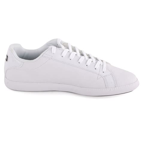 lacoste graduate at mens trainers leather white new shoes