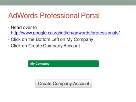 how to create company profile how to create a adwords company profile