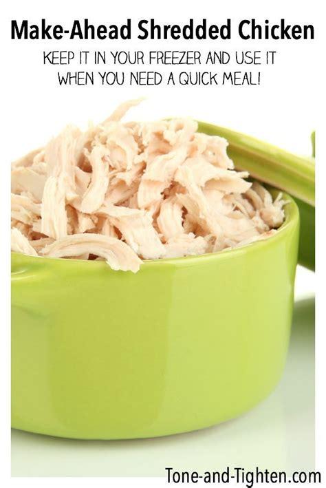 make ahead shredded chicken freezer meal recipe