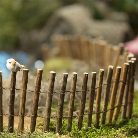miniature rustic natural twig fence whats