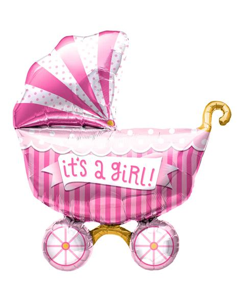 Balon Oke Baby Carriage Foil Balloon foil balloon baby carriage quot it s a quot pink foil balloon horror shop