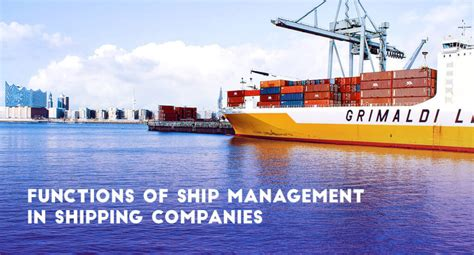 ship management functions of ship management in shipping companies