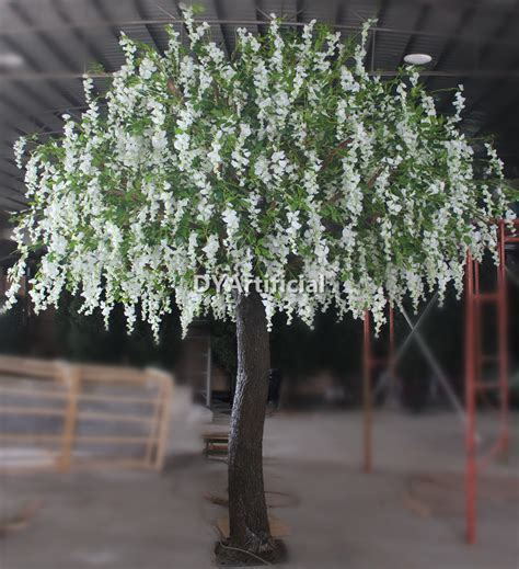 150cm Artificial Wisteria Tree with cream Silk flowers