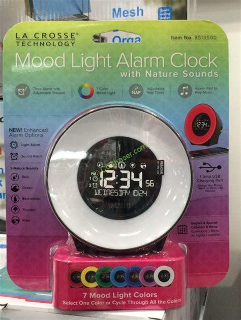 la crosse mood light color lcd alarm clock model
