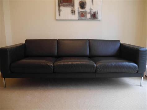 habitat leather sofa robin day forum 3 seater sofa by habitat classic dark