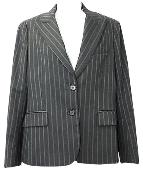 Stripe Wool Blazer theory stripes two button wool blend jacket m blazer size