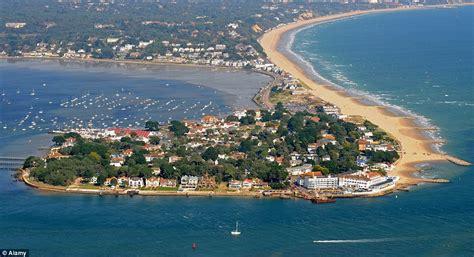 sand banks dorset empty plot of land in millionaires resort sandbanks is on