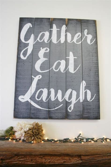 wall decor for room best 25 eat sign ideas on rustic kitchen