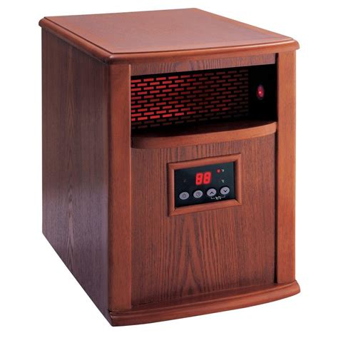 infrared heat l home depot american comfort 1500 watt portable infrared heater solid
