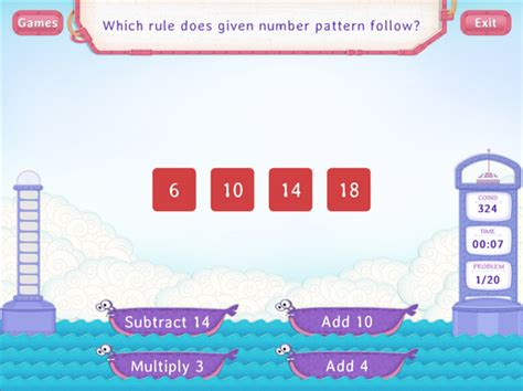 number pattern rule generator generating a number pattern assessment teach assess