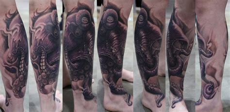 leg piece tattoo octopus leg by stefano alcantara tattoos