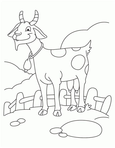 free coloring pages of goats image of a goat coloring home