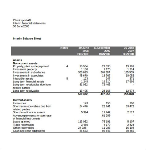 income statement templates 21 free word excel pdf