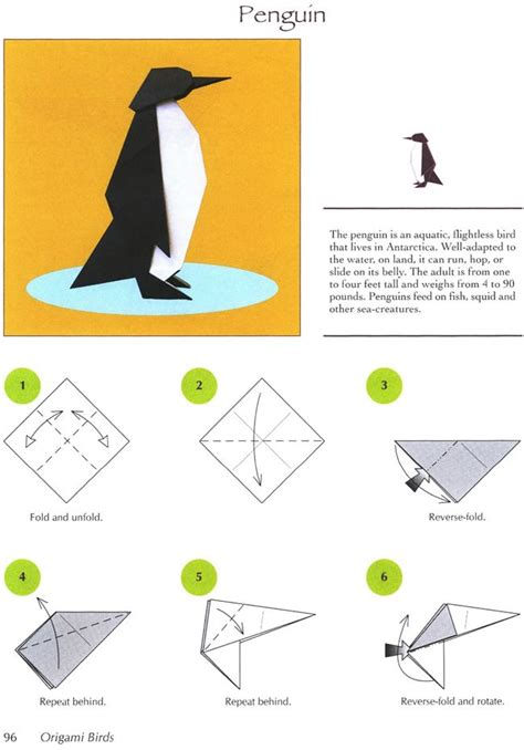 origami penguin page 1 dover publications penguins