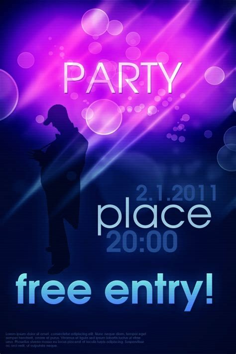 party poster template psd download free vector graphic