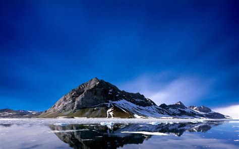 wallpaper for laptop size ice clear water flow mountains sky nature background