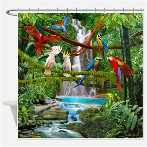 parrot shower curtain parrot shower curtains parrot fabric shower curtain liner