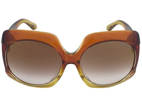 Tom Browne Yellow Lens tom ford ivana sunglasses color