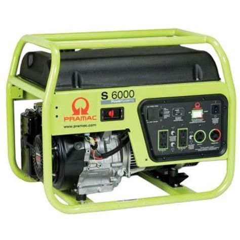 Pramac 6 000 Watt Gasoline Powered Manual Start Portable