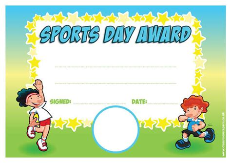 sports day certificate templates free personalised certificates for schools sports award for