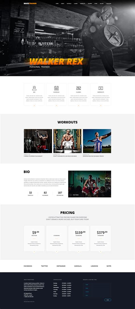 maxx fitness psd template by munfactory themeforest