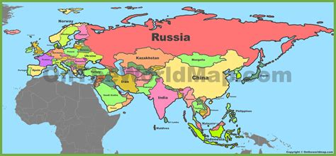 map of eurasia eurasia maps maps of eurasia ontheworldmap