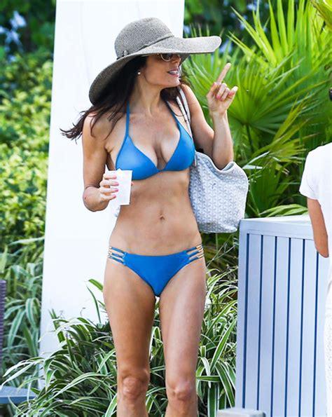 celebrity bethenny frankel bethenny frankel in blue bikini in miami