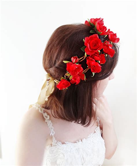 Budroses Flower Crown flower crown with roses leaves