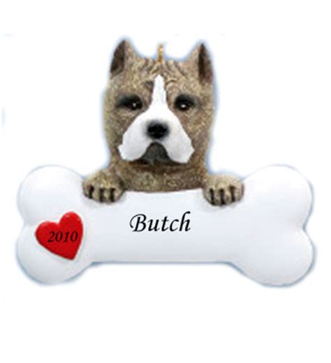personalized pit bullterrier christmas ornaments pitbull personalized ornament