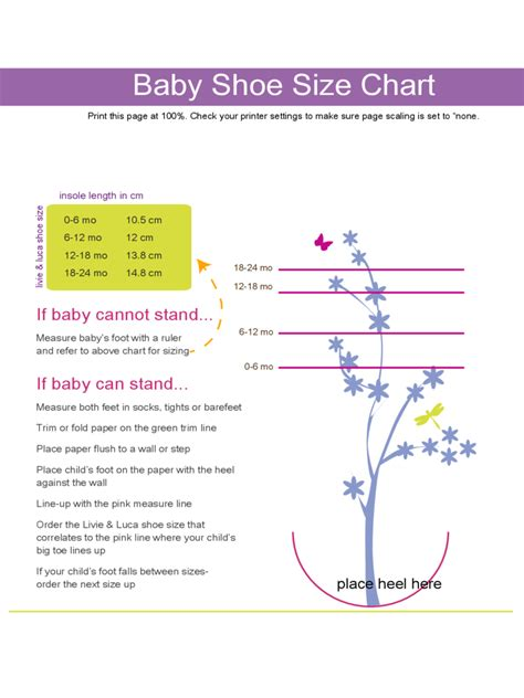 baby size chart template baby size chart 3 free templates in pdf word excel