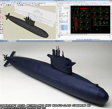 Papercraft Submarine - papercraft walrus class submarine wip 5b by